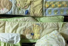 Crib Set- Unisex Colors- Infant Or Toddler- Great Condition- 4piece