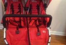 Tike Techcity X3 Swivel Double Stroller - Alpine Red