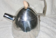 Alessi Tea Pot Kettle By Michael Graves - Stainless Steel Less Whistle