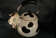 Kamenstein Cow Whistling Tea Kettle Teapot Mcmxcii Stainless Steel Enamel