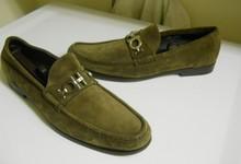 Salvatore Ferragamo Master Taupe Suede Loafers