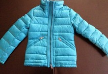 Burberry Childrens Girls Check Coat Jacket Puffer Hood