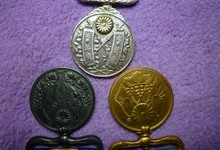 Antique Japanese Old Meiji Army Merit Medal