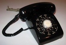 Classic Rotary Dial Telephone Antique Black Phone