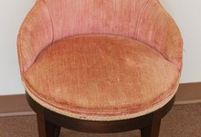 Antique Upholstered Swivel Vanity Chair