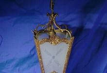 Antique Brass / Bronze Hall Ceiling Lantern Light Chandelier