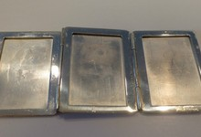 Vintage Tiffany & Co Sterling Silver Tri-fold Picture Frame