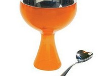 A Di Alessi Orange Big Love Bowl & Spoon