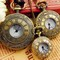 Antique Roma Bronze Steampunk Quartz Clock Pocket Watch Pendant Necklace