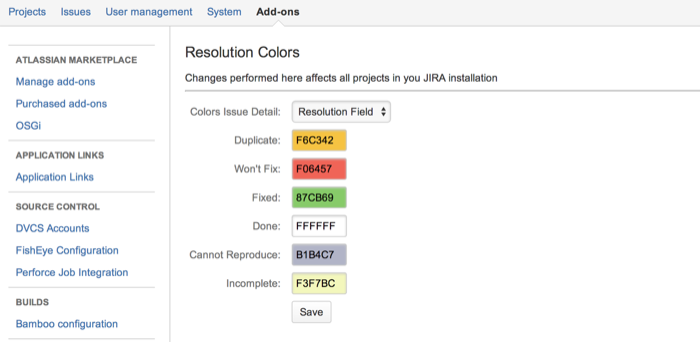 Plugins Settings:Resolution Colors