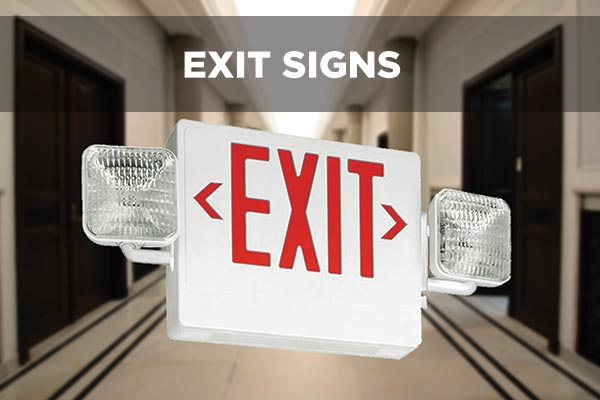 What color exit signs are supposed to be