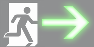 Exit Sign Running Man Safe