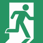 Running Man Exit Sign Pictogram