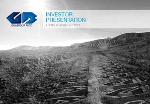 4Q 2015 GB Auto Investor Presentation