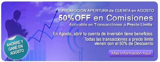 Promocion 50% off