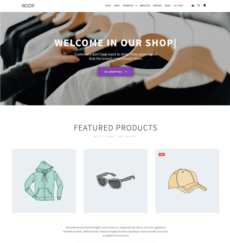 demo ecommerce website
