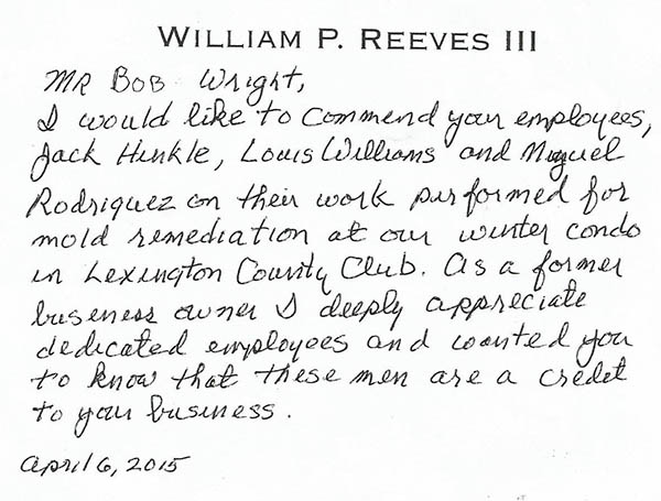 William Reeves ServiceMaster Testimonial
