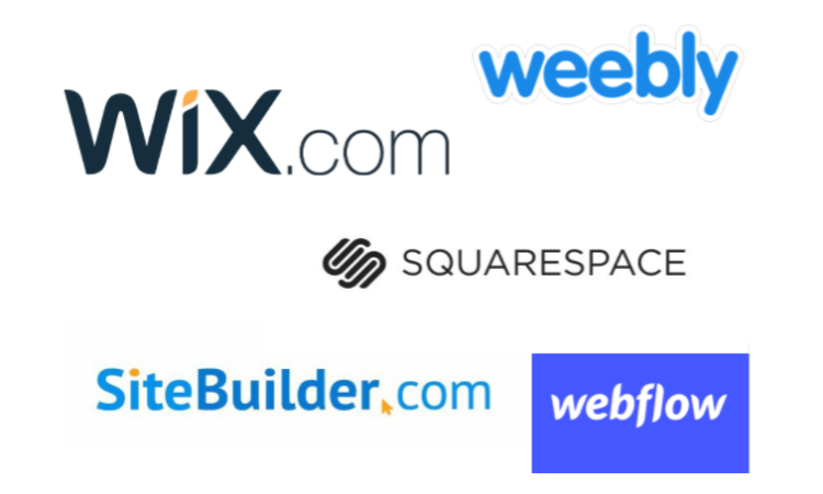 Clover wix vx weebly vs squarespace vs sitebuilder vs webflow