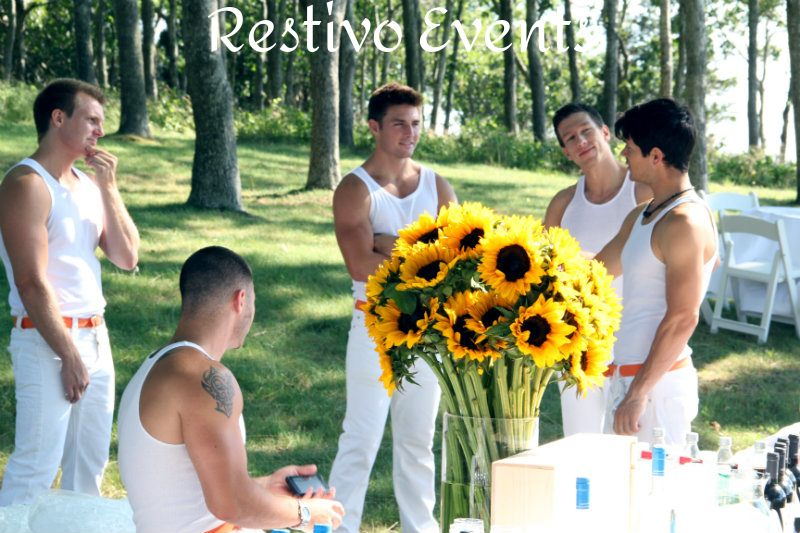 hamptons special events model staffing by Restivo Events