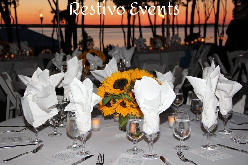 Hamptons All White Casual Chic Sunset Event by Restivo