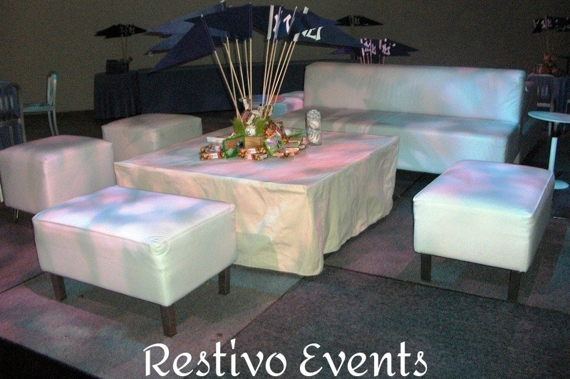 casual chic lounge event theme