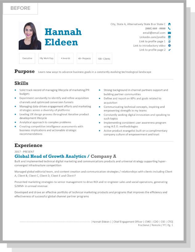 Hannah Eldeen BEFORE Resume