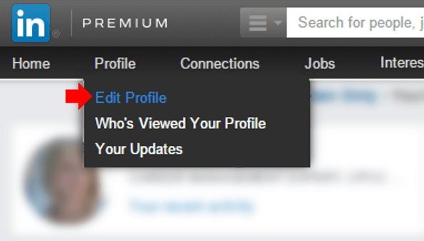 Personalize LinkedIn Profile URL: Step 1