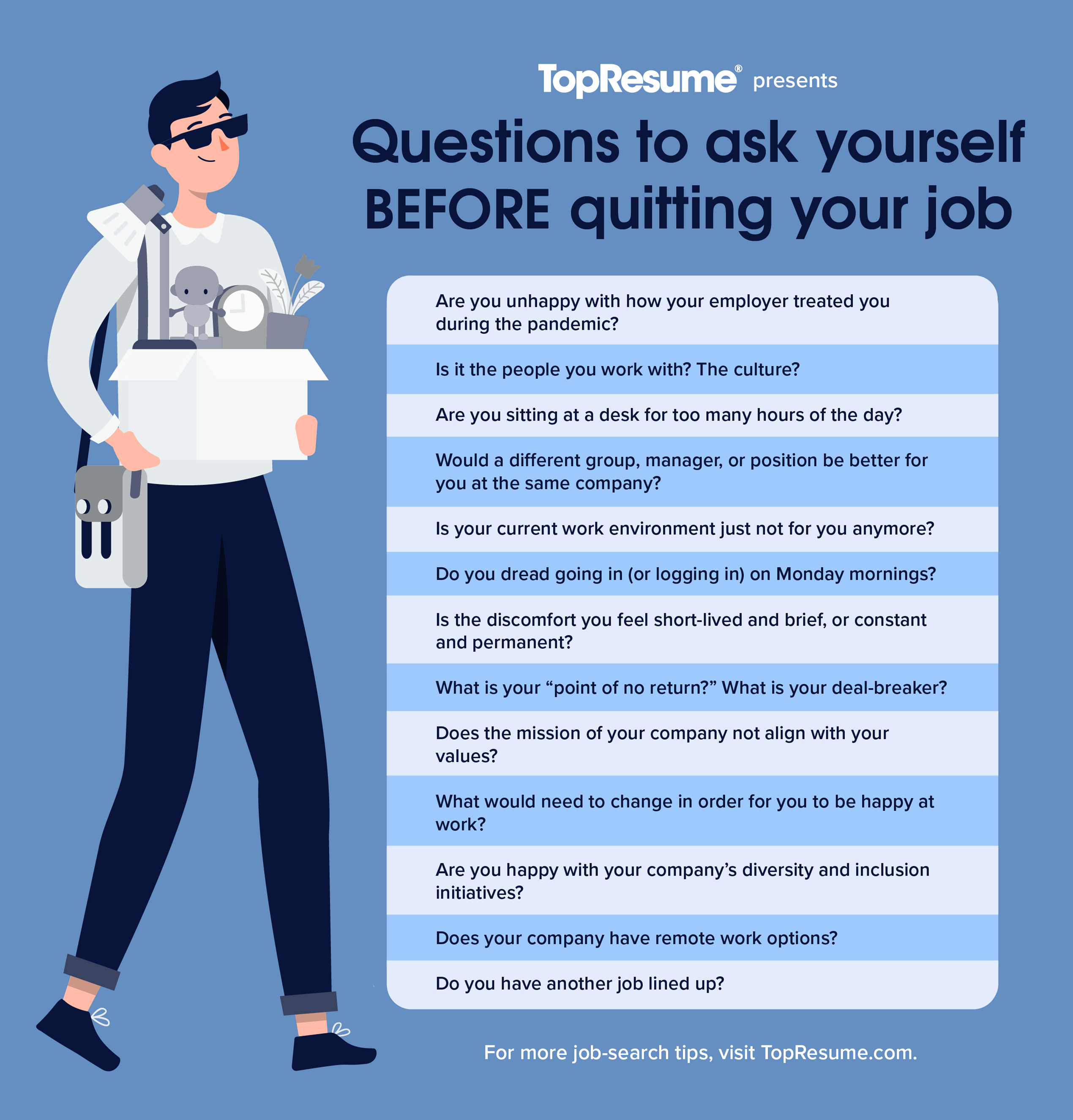 questions to ask yourself when quitting your job