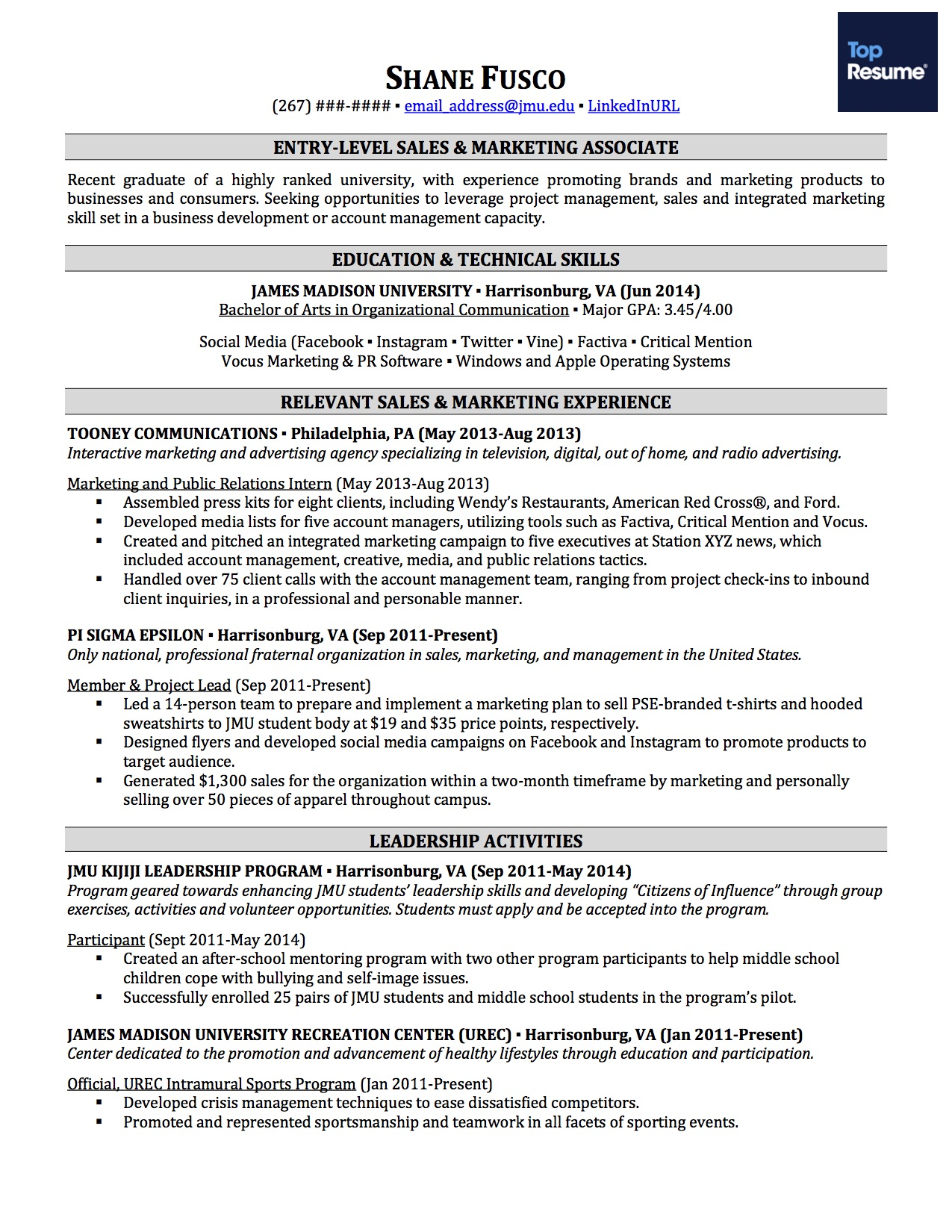 decide on a resume format - No Experience Resume