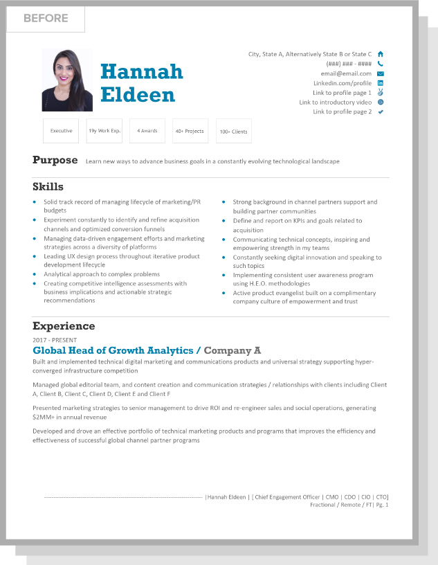 Hannah Eldeen BEFORE Resume