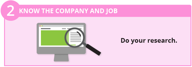 Know the company and job