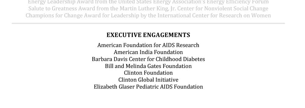 Sample Senior Resume Executive Engagement Section Hillary Clinton
