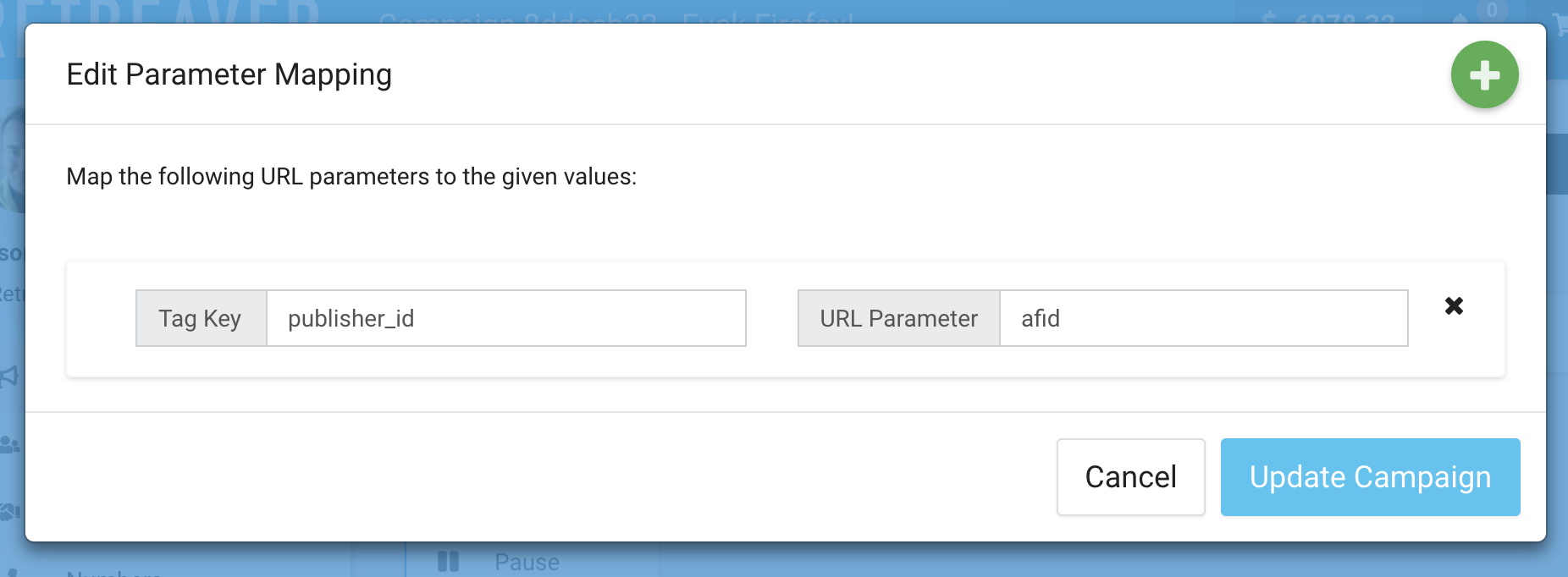 Detecting a Publisher ID from the afid parameter of a landing page.