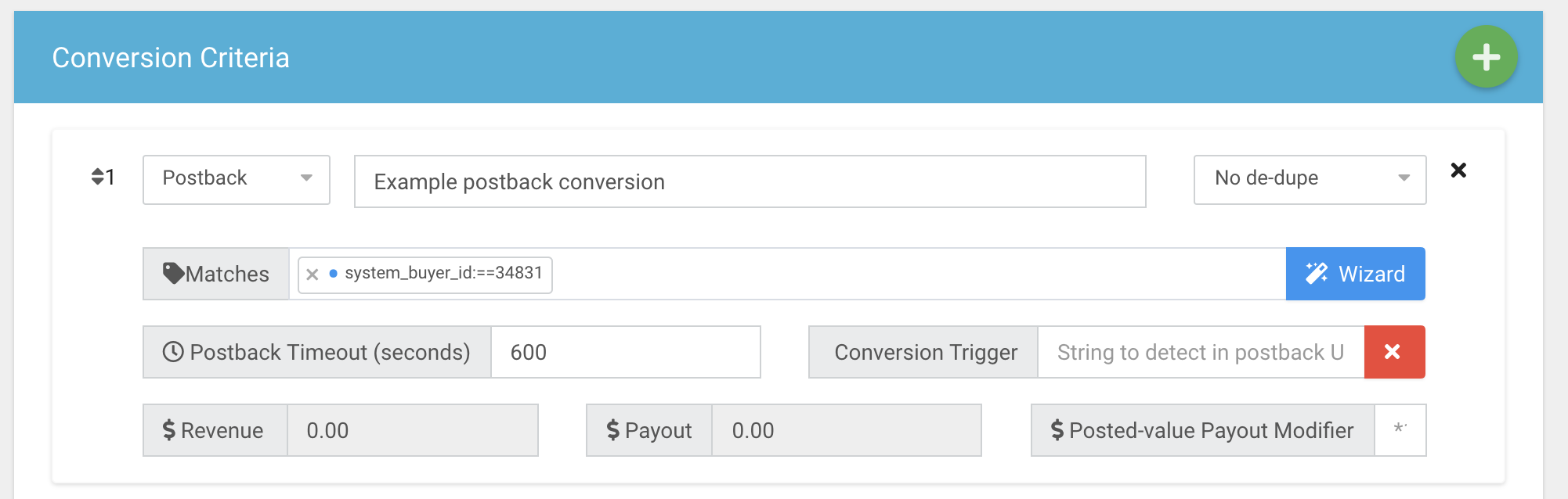 Adding a postback conversion.