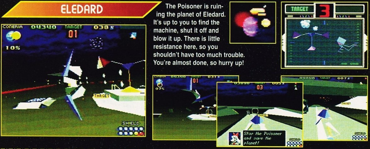 From Electronic Gaming Monthly's coverage at Winter CES 1995: There is no Poisoner in the leaked builds we have. Could it be in the final version? More importantly, will we get that Link's Awakening-style Italic font? | Scan credit: Retromags.com