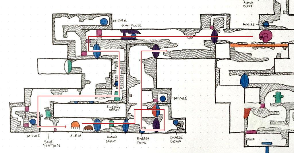 metroid 2 return of samus map