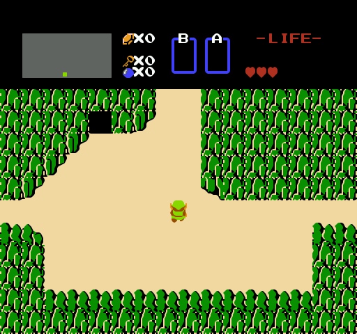 Link contemplates his newfound freedom and is briefly moved to tears.