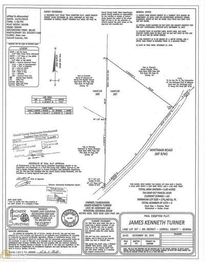 0 WHITMAN RD 5 ACRES, BOWDON, GA 30108 - Photo 1