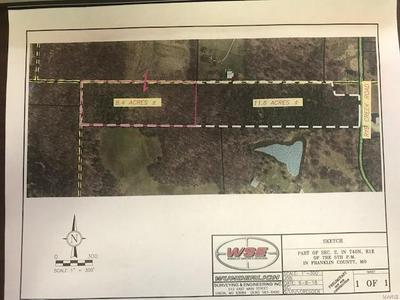 0 11.6 ACRES RYE CREEK ROAD, LONEDELL, MO 63060 - Photo 1