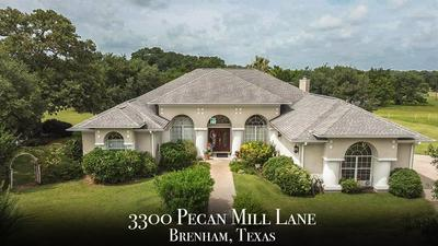 3300 PECAN MILL LN, Brenham, TX 77833 - Photo 1