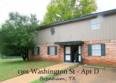 1301 WASHINGTON ST APT D, BRENHAM, TX 77833 - Photo 1