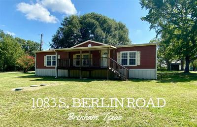 1083 S BERLIN RD, Brenham, TX 77833 - Photo 1