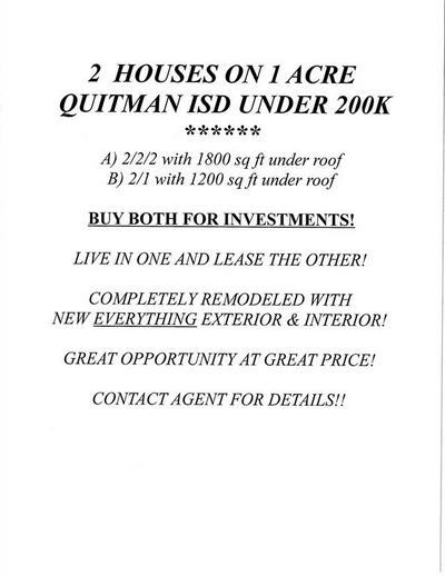 1118 E GOODE ST, QUITMAN, TX 75783 - Photo 1