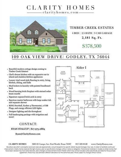 109 OAK VIEW DR, Godley, TX 76044 - Photo 2