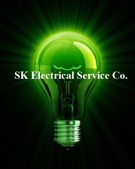 SK Electrical Service Company Business Logo