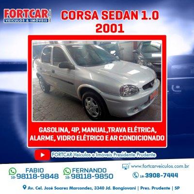 Veículo CORSA SEDAN 2001 1.0 MPFI WIND SEDAN 8V GASOLINA 4P MANUAL