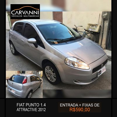 Veículo PUNTO 2012 1.4 ATTRACTIVE 8V FLEX 4P MANUAL