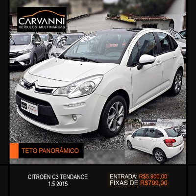 Veículo C3 2015 1.5 TENDANCE 8V FLEX 4P MANUAL