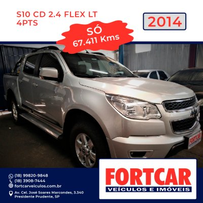 Veículo S10 2014 2.4 LT 4X2 CD 8V FLEX 4P MANUAL