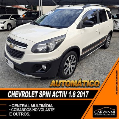 Veículo SPIN 2017 1.8 ACTIV 8V FLEX 4P AUTOMÁTICO
